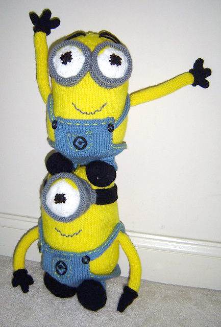 Free Knitting Pattern for Minion Softies