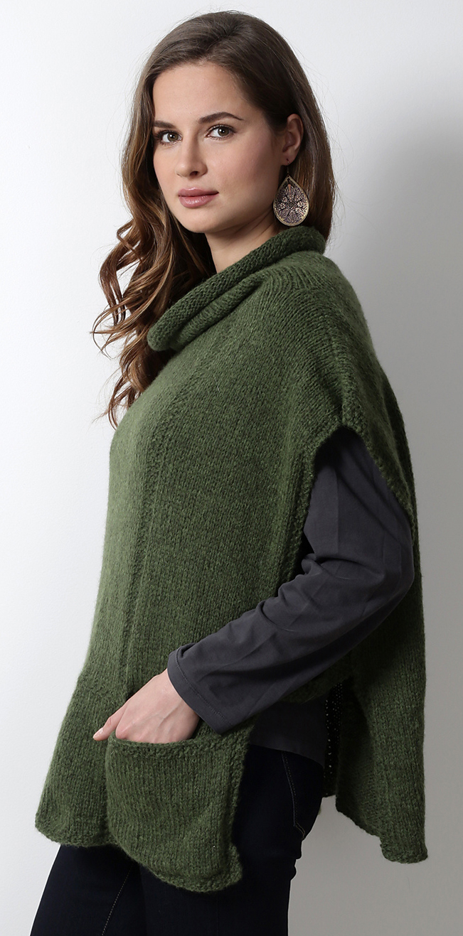 Knitting Pattern for Mirna Poncho