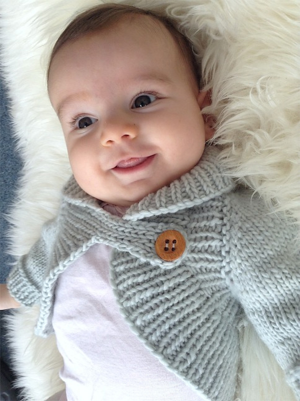 Knitting Pattern for Miss Daisy Shrug for Babies and Children