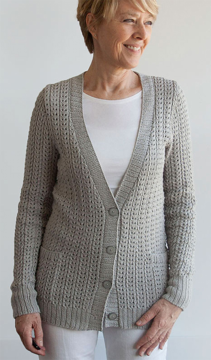 Knitting Pattern for 4 Row Repeat Miss Me Yet Cardigan