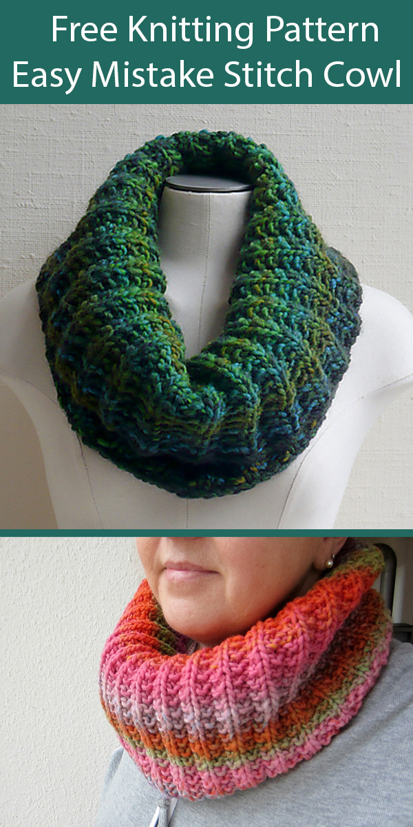 Free Cowl Knitting Pattern Mistakes - I've made a few