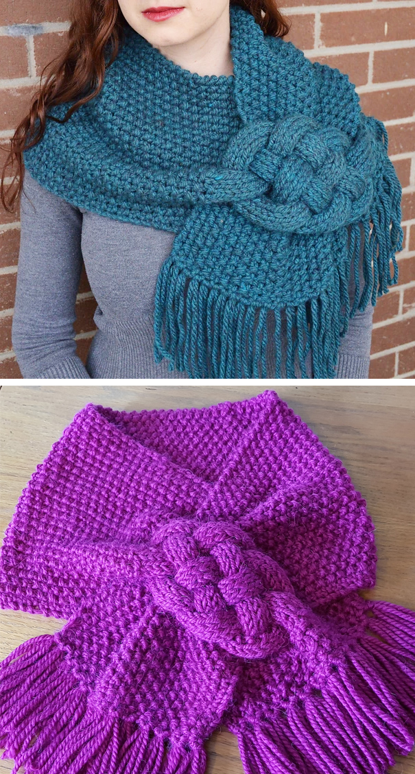 Braided Scarf and Cowl Knitting Patterns- In the Loop Knitting