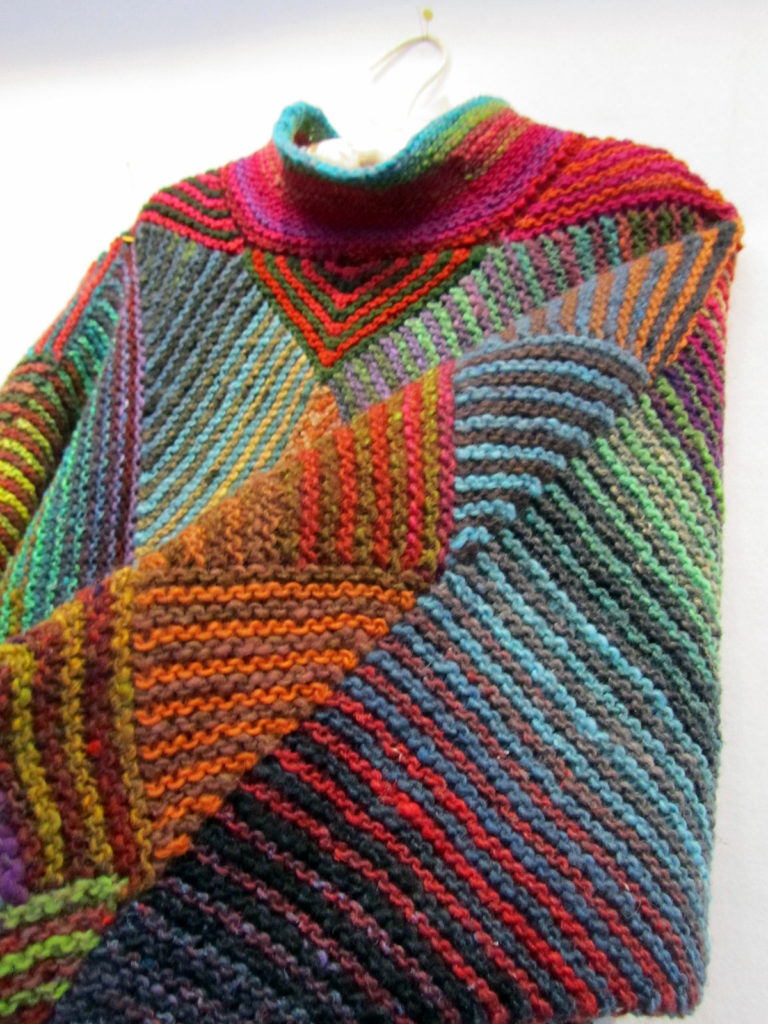Free Knitting Pattern for Miterrific Poncho