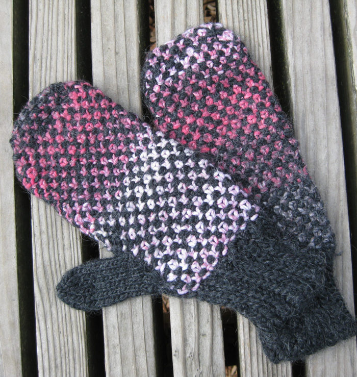 Free Knitting Pattern for Mittens Interrupted