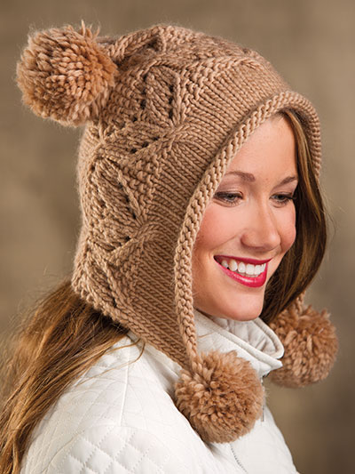 Mocha Hoodie Hat Knitting Pattern and more hood knitting patterns