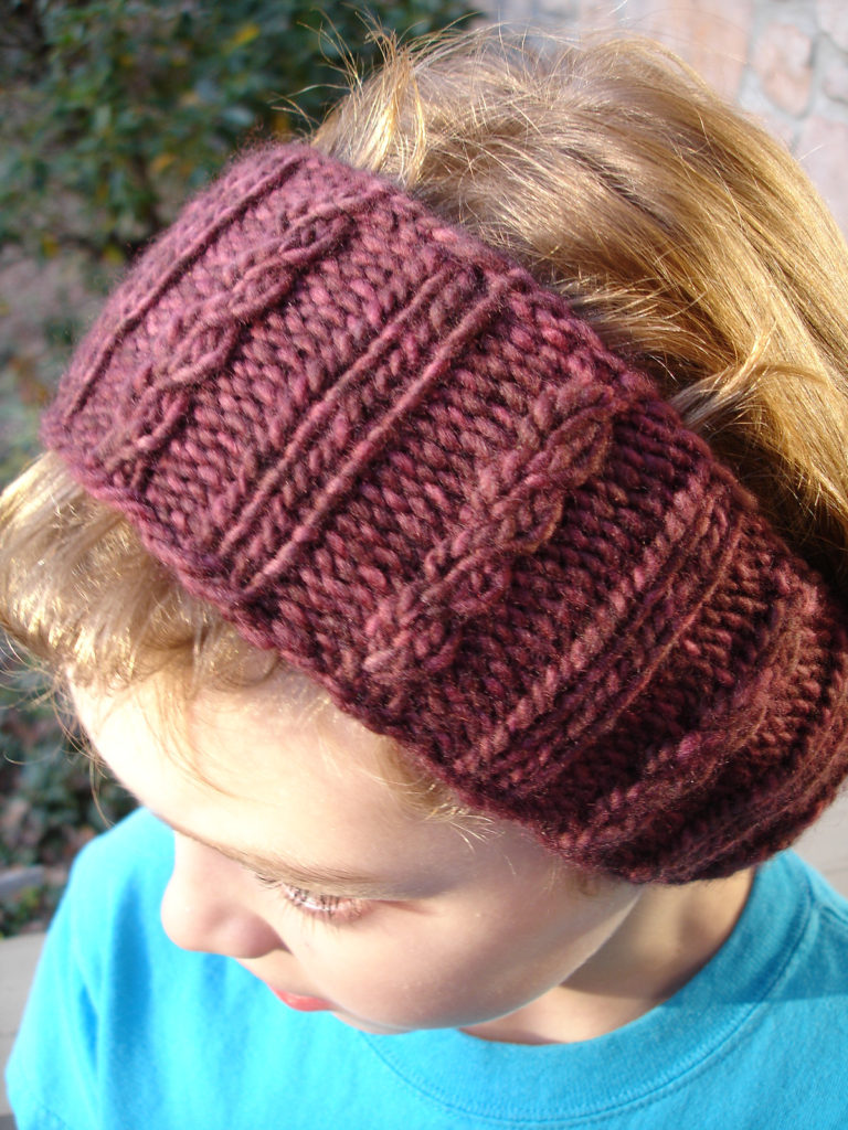 Free Knitting Pattern for Mock Cable Ear Warmer