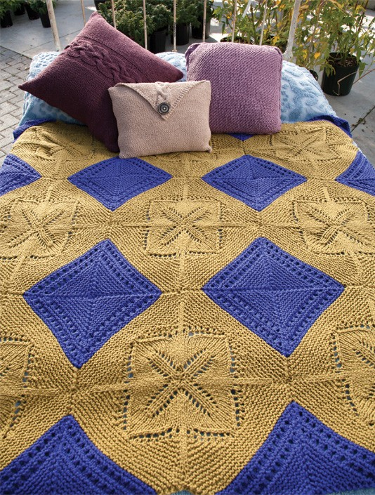 Free knitting pattern for Modular Throw