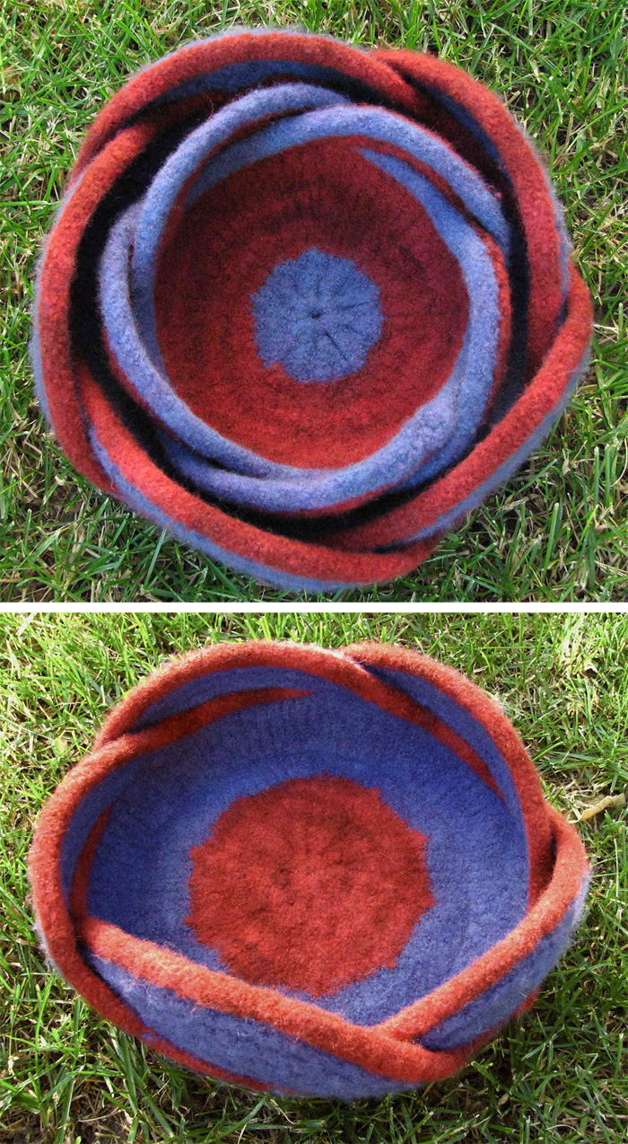 Free Knitting Pattern for Moebius Bowls