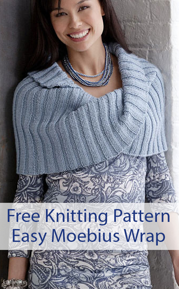 Free Knitting Pattern for Easy Moebius Wrap