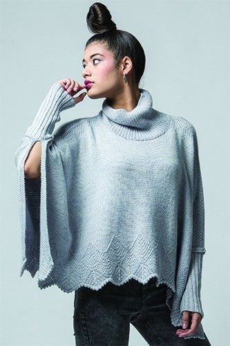 Knitting Pattern for Mofu Poncho