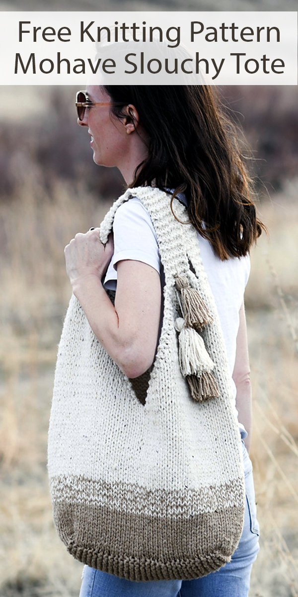Free Knitting for Mohave Slouchy Tote Bag