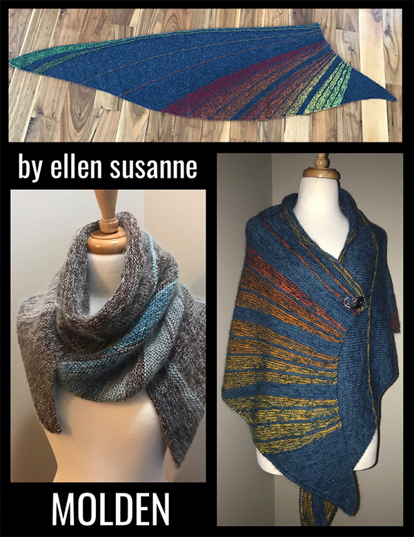 Free until July 22, 2018 Knitting Pattern for Molden Shawl