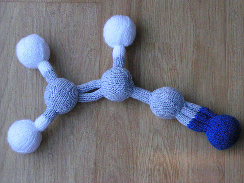 Molecule Free Knitting Pattern and more science inspired knitting patterns