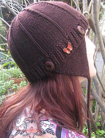 Free Knitting Pattern Monarch Lyon Hat - Aviator style earflap hat d31c9dc0de2