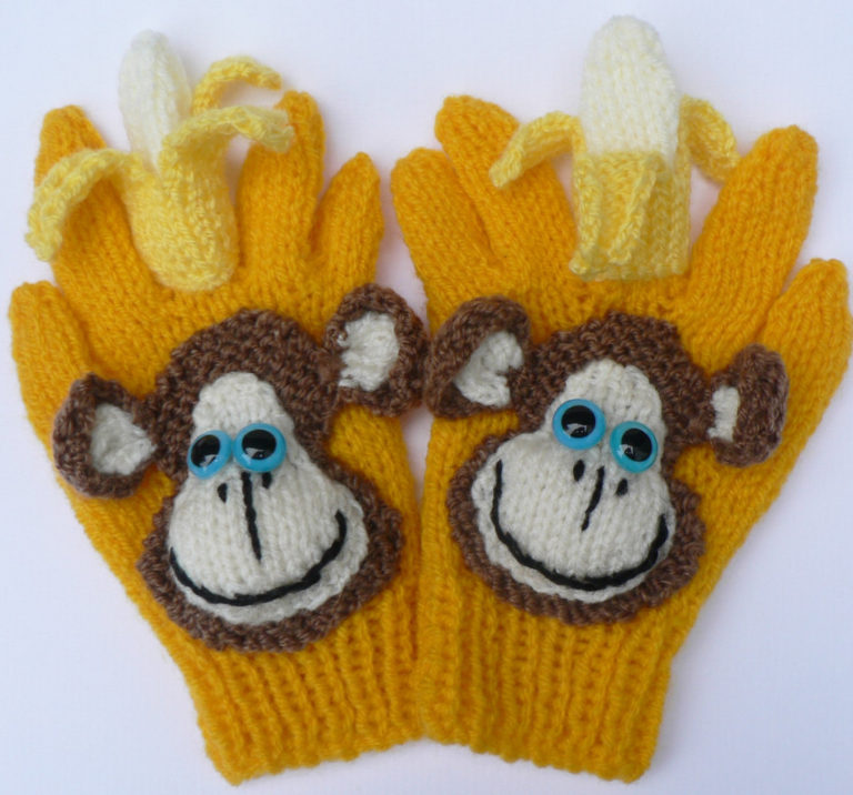 Knitting Pattern for Cheeky Monkey Gloves