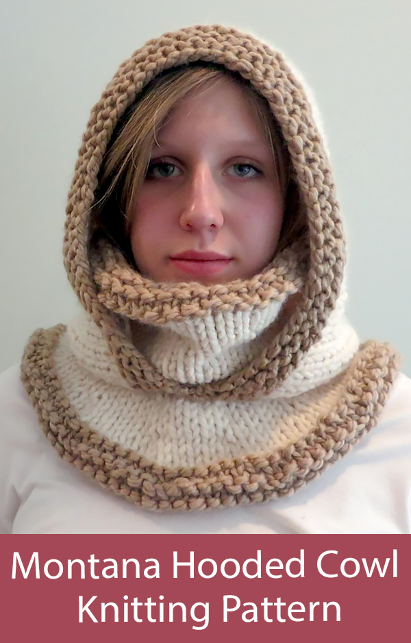 Hooded Cowl Knitting Pattern Montana Hat