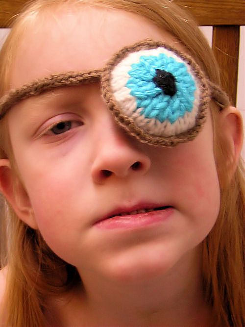 Free Knitting Pattern for Mad Eye's Mad Eye