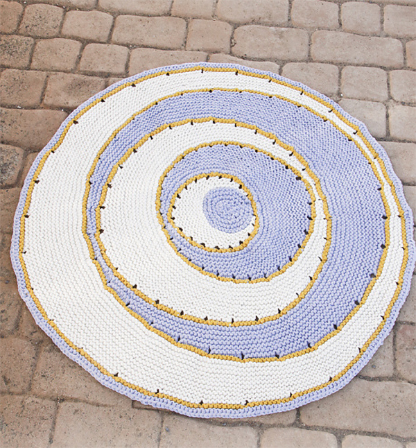 Free Knitting Pattern for Moonlight Reflection Rug