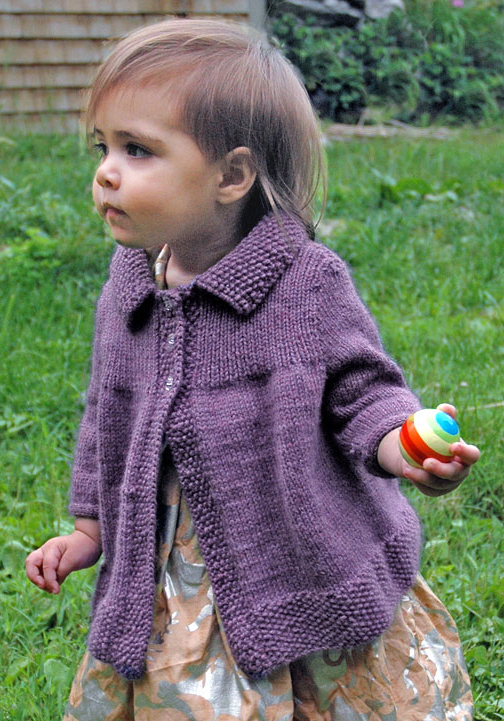 Free Knitting Pattern for Moppet Swing Coat