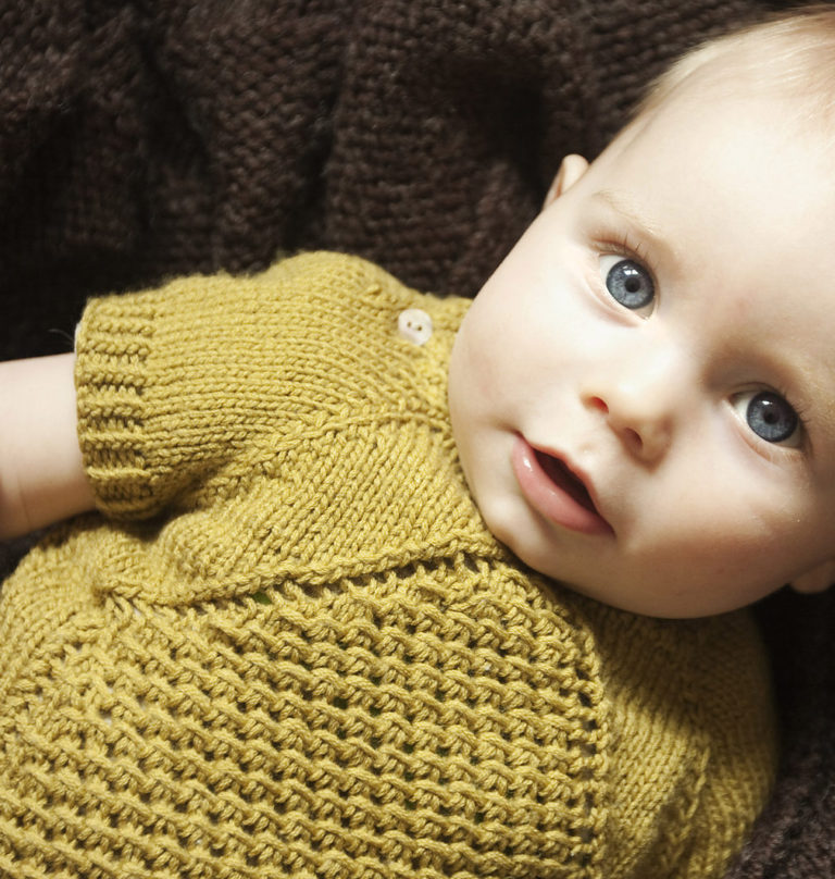 Free Knitting Pattern for Morpheus Baby Pullover