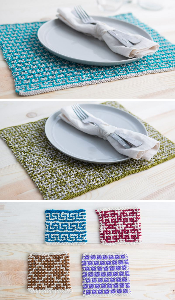 Free Knitting Patterns for Mosaic Placements