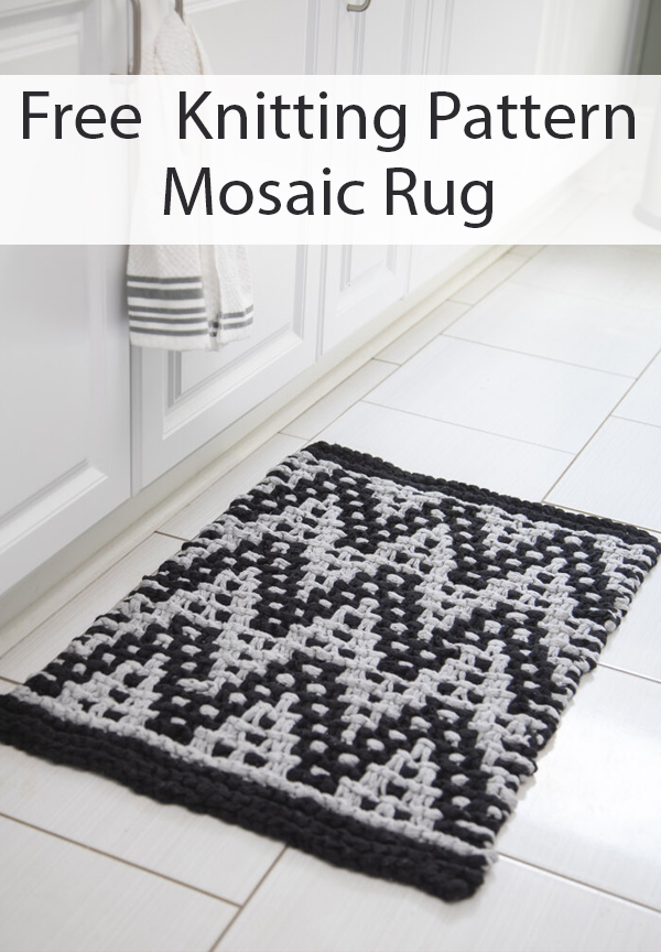 Free Knitting Pattern for Mosaic Rug