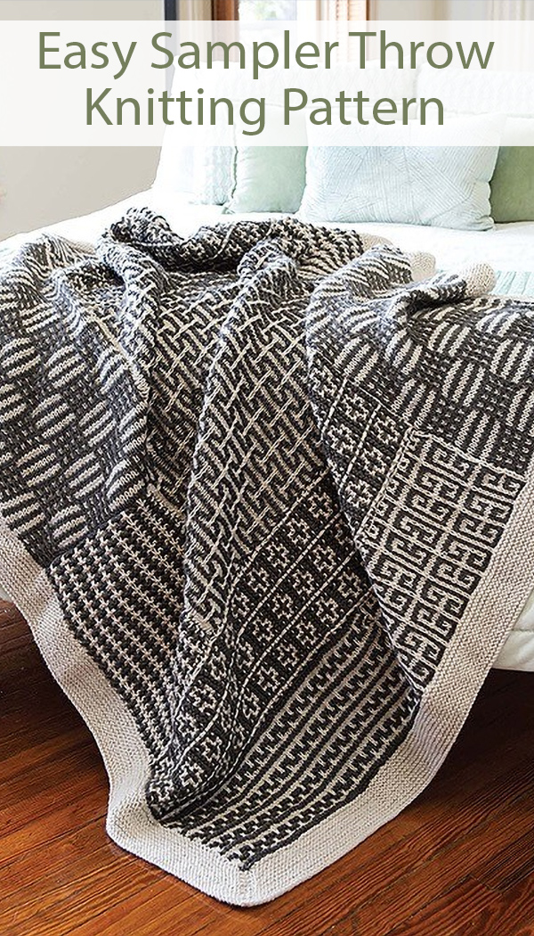 Easy Knitting Pattern for Sampler Throw