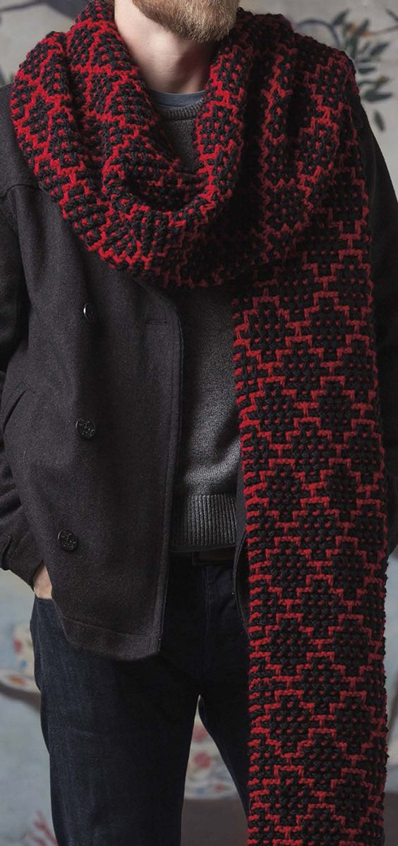 Knitting Pattern for Mosaic Super Scarf