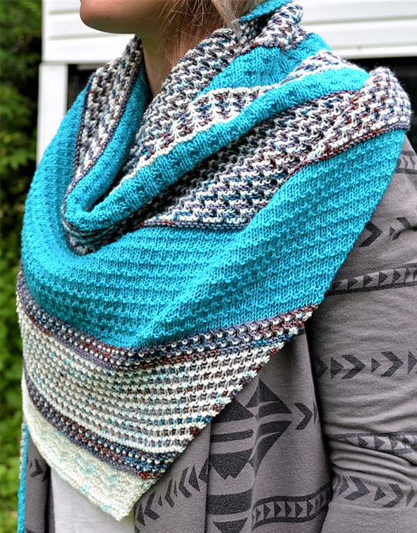 Free until September 1, 2018 Knitting Pattern for Mosaica Shawl