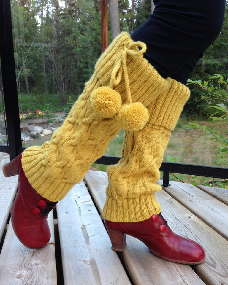 Free Knitting Pattern for Mosey Legwarmers