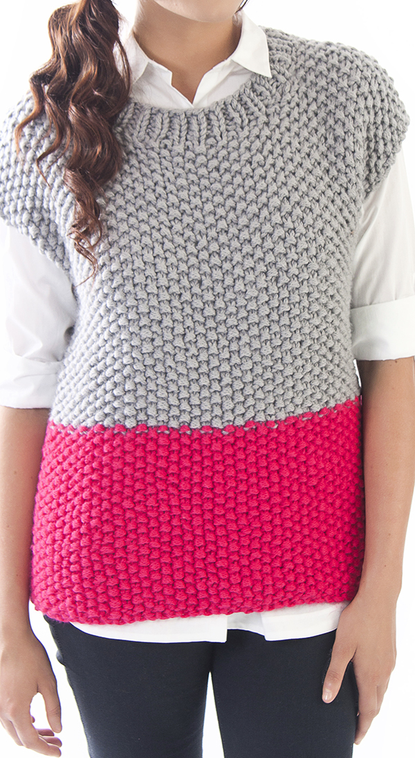 Free Knitting Pattern for Seed Stitch Tunic