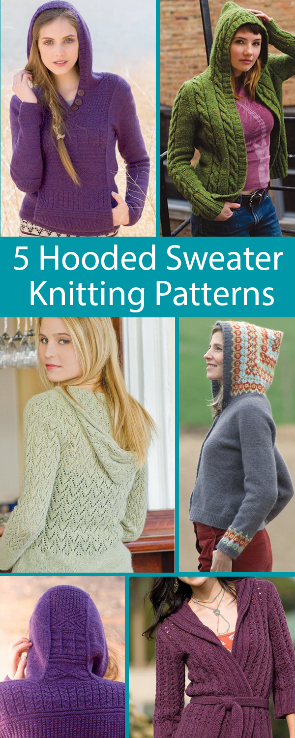 Knitting Patterns for 5 Popular Hoodies
