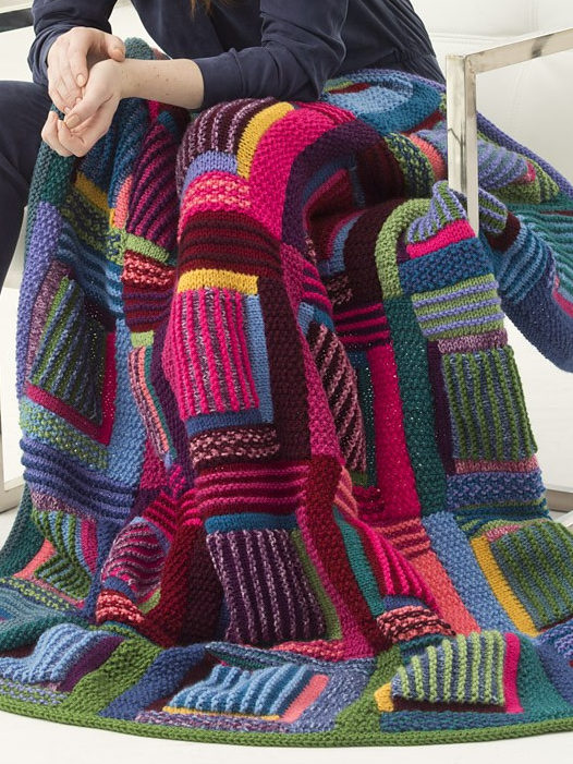 Free Knitting Pattern for Mountain Cabin Afghan
