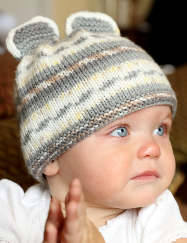 Free Knitting Pattern for Easy Mouse Baby hat