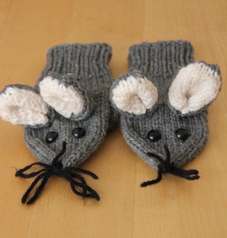 Free Knitting Pattern for Mouse Mittens