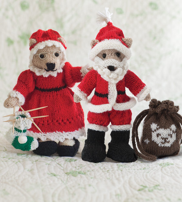 Free Knitting Pattern for Mr. and Mrs. Bear Claus