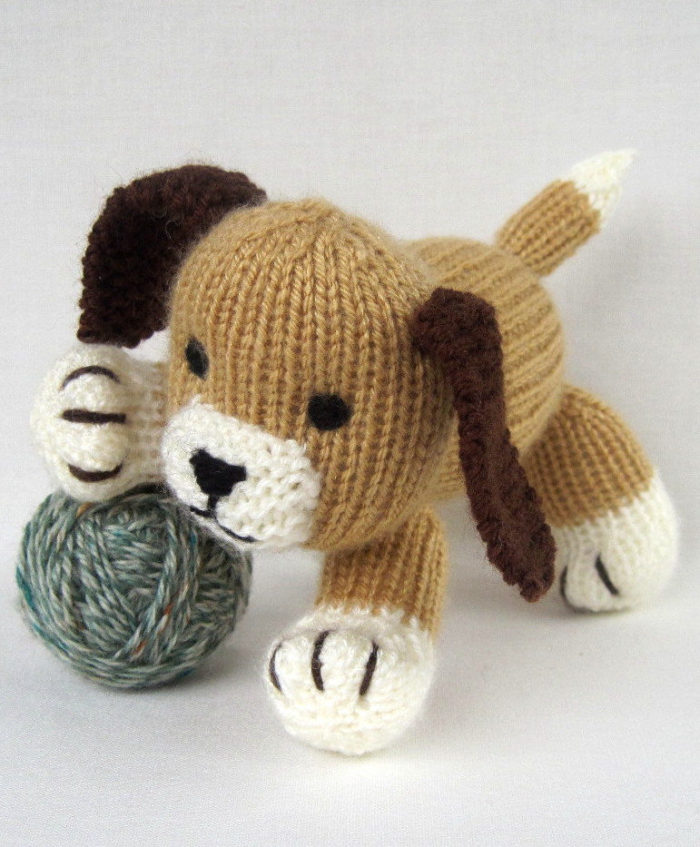 Knitting Pattern for Muffin the Puppy