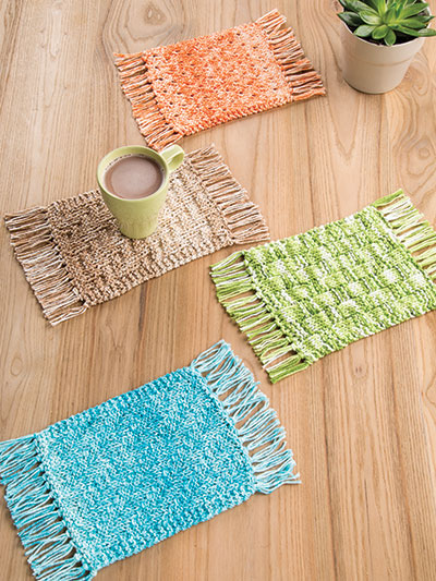 Knitting Pattern for Mug Rugs