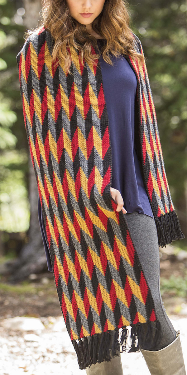 Knitting Pattern for Muir Wrap