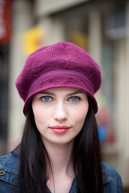 Mulberry Hat Free Hat Knitting Pattern | More Hats With Brims Knitting Patterns at http://intheloopknitting.com/hats-with-brims-knitting-patterns/