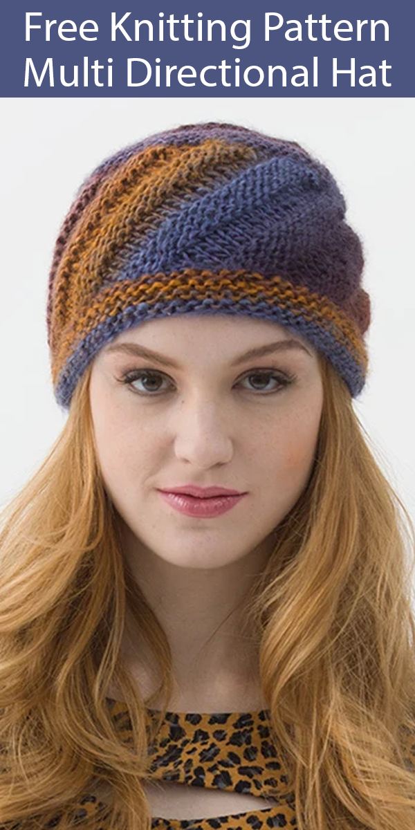 Free Knitting Pattern for Multi Directional Hat
