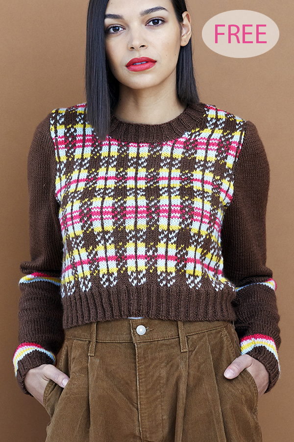 Free Knitting Pattern for Tartan Sweater