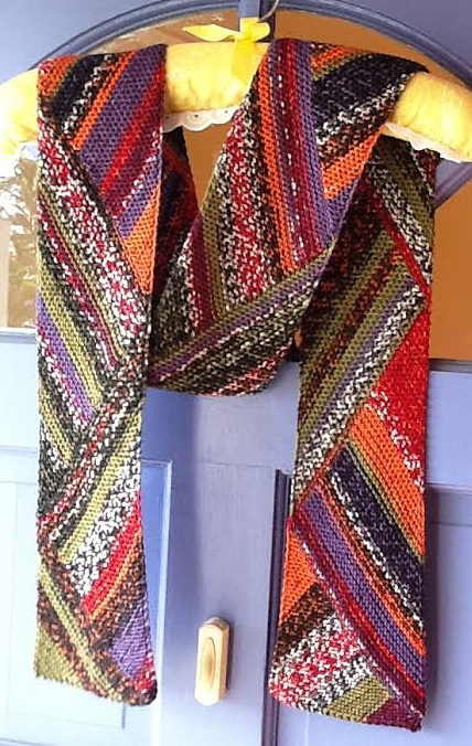 Free Knitting Pattern for Reversible Multidirectional Diagonal Scarf