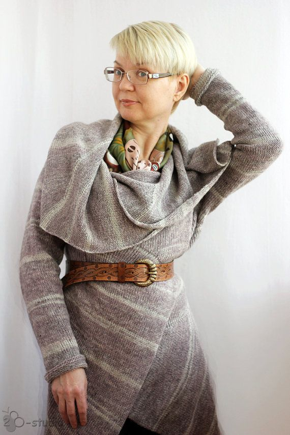 Knitting Pattern for Multiwear Convertible Cardigan Sweater and more cardigan sweater knitting patterns