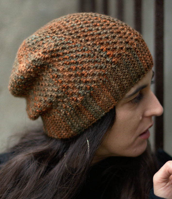 Knitting Pattern for Muratura Sideways Slouchy Hat