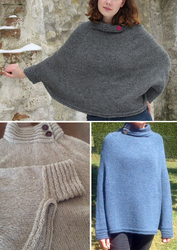 Free Knitting Pattern for Muscari Poncho