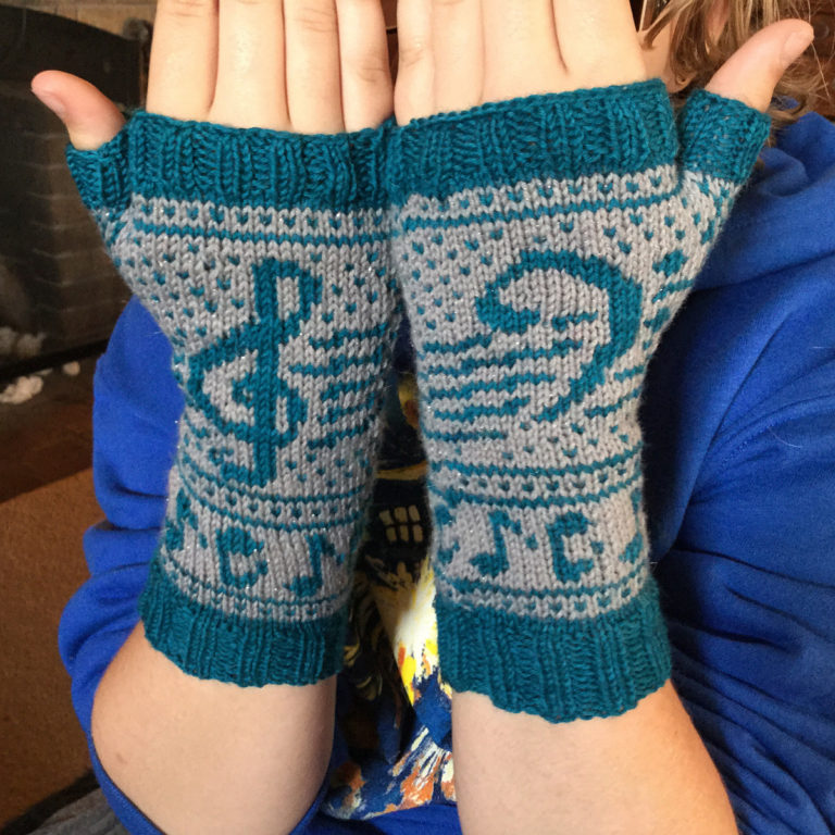 Free Knitting Pattern for Musica Mitts