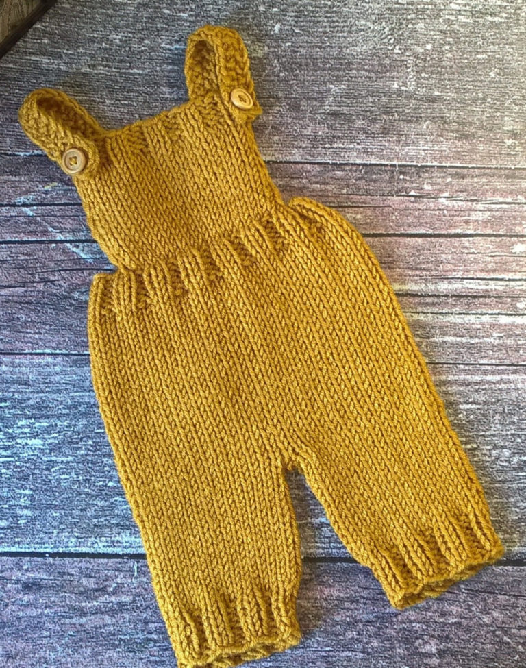Knitting Pattern for Mustard Romper