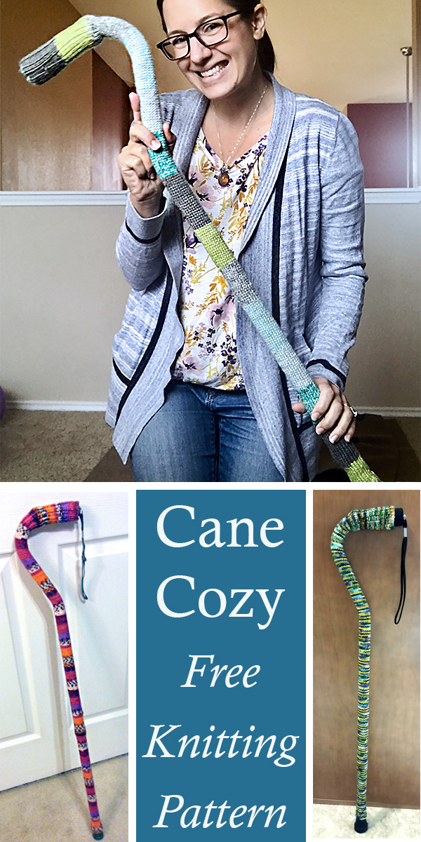 Free Knitting Pattern for Cane Cozy