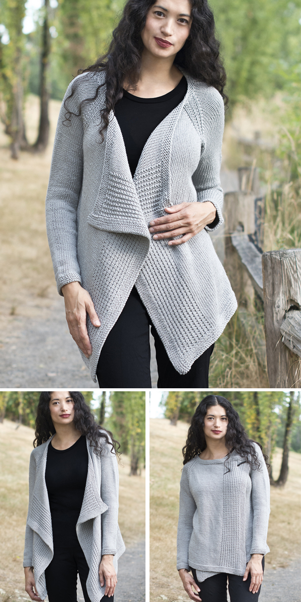 e3e418900 Draped Cardigan Knitting Patterns - In the Loop Knitting